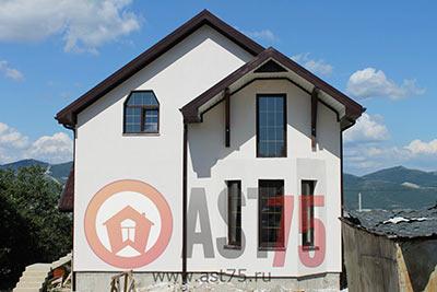 Дом 8 x 10 (с балконом, эркер) площадью 168 м2 + проект