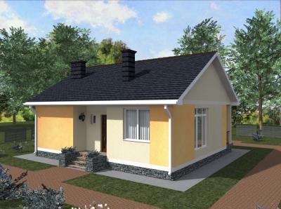 Дом 10.2 х 9.0 м площадью 145 м2 + проект