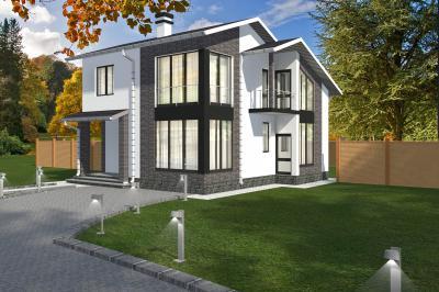 Дом 10х10 площадью 180 м2 + проект