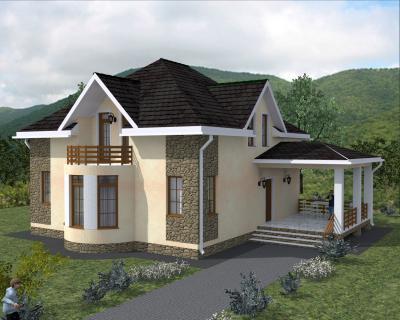 Дом 15.5 х 12.3 м площадью 258 м2 + проект