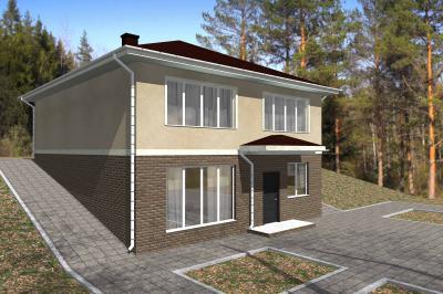 Дом  в два уровня площадью 210 м2 + проект