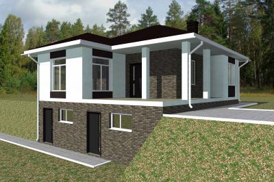 Дом 11х9,5 (с подвалом) площадью 143 м2 + проект