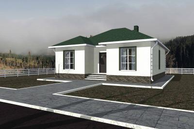 Дом 10.1х10.1 с чердаком площадью 131 м2 + проект
