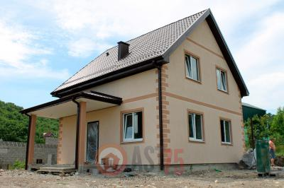 Дом 8 х 8 с верандой и простой крышей  площадью 128 м2 + проект