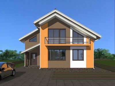 Жилой дом с мансардой 1.4 м площадью 221 м2 + проект