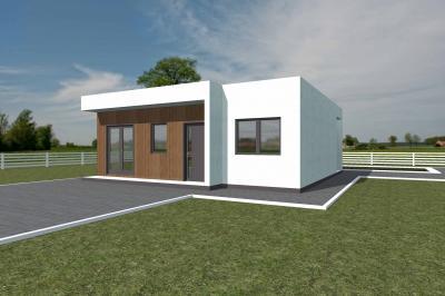 Дом 9.8х9 площадью 82 м2 + проект