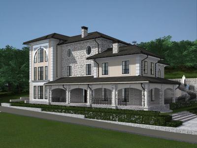 Дом 22.6 мх 17.6 м площадью 826 м2 + проект