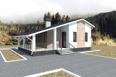 Дом 8х11 с большой террасой площадью 91 м2 + проект