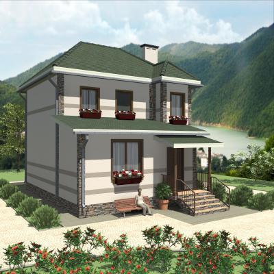 Дом 8 х 9.5 м площадью 136 м2 + проект