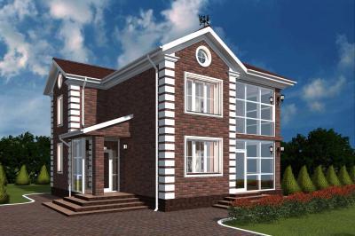 Двухэтажный дом площадью 200 м2 + проект
