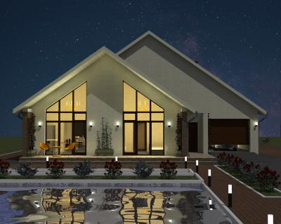 Дом 15,7 х 10,4 площадью 347 м2 + проект