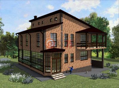 Дом 11.3 х 11.2 площадью 418 м2 + проект