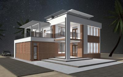 Двухэт. дом с эксплуатируемой кровлей 11.4х13.2 площадью 370 м2 + проект