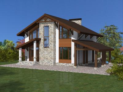 Дом 16.5#11.5 площадью 528 м2 + проект