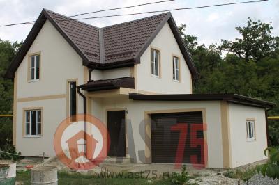 Дом  7.2 x 11 с гаражом площадью 154 м2 + проект
