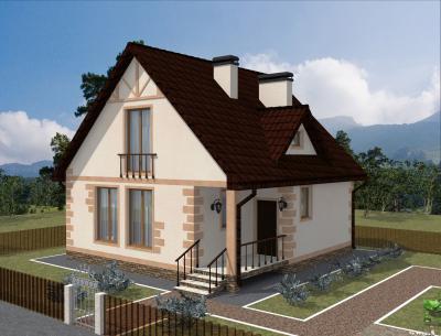 Дом 9 х 9 м площадью 163 м2 + проект