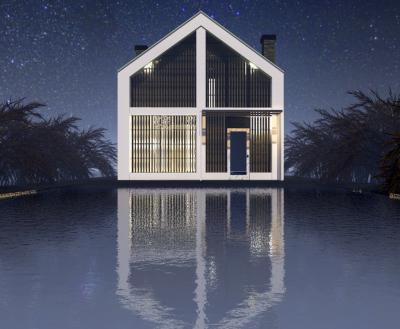 Двухэтажный дом мансардного типа площадью 105 м2 + проект