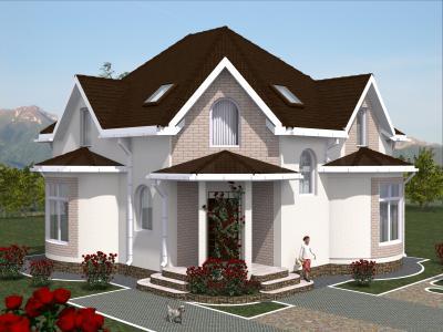 Дом 11,3 х 10,8 м площадью 194 м2 + проект
