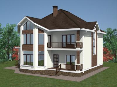 Дом 12.3 x 15 (с пристройкой) площадью 377 м2 + проект