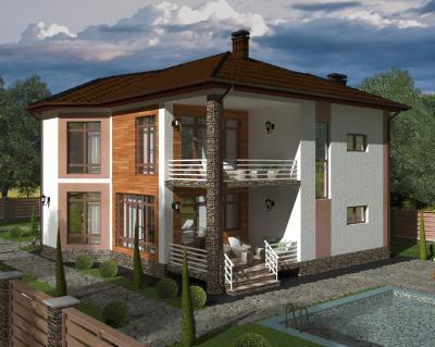 Дом 10,8 х 13 м площадью 286 м2 + проект