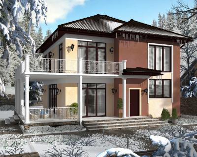 Дом 13 х 11 м площадью 287 м2 + проект