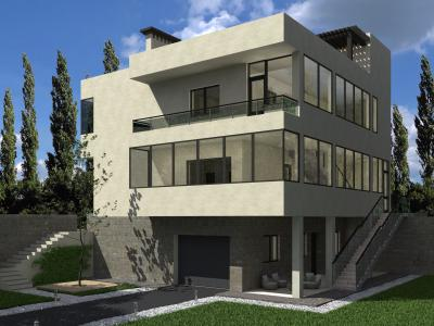 Трехэтажный жилой дом 11.0х12.5 м площадью 376 м2 + проект