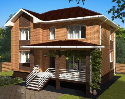 Дом 12 х 9,8 м площадью 229 м2 + проект