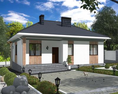Дом 11.7 х 11.9 м площадью 165 м2 + проект