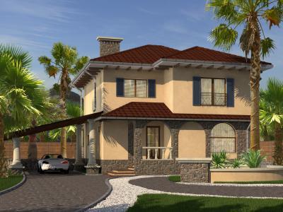 Двухэтажный дом 10 х 9 м площадью 200 м2 + проект