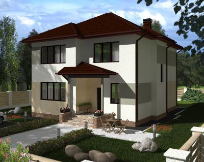 Дом 12.3 х 10 м площадью 240 м2 + проект