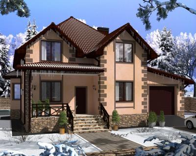 Дом 15,2 х 12,9 м площадью 303 м2 + проект