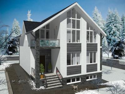 Дом 8.84 м х 10.95 м + ИНТЕРЬЕРЫ площадью 252 м2 + проект