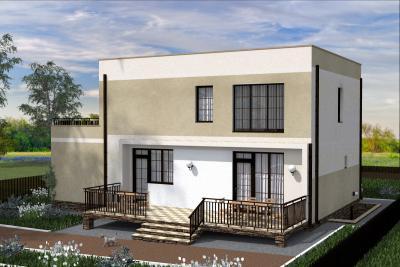 Дом с неэксплуатируемой кровлей площадью 293 м2 + проект