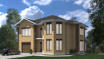 Двухэтажный дом с цокольным этажом площадью 535 м2 + проект