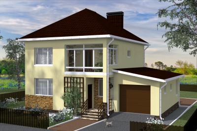 Дом 12.3 х 10.5 площадью 236 м2 + проект