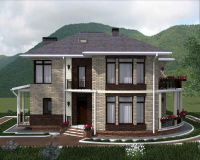 Дом 14.7 х 13 м площадью 312 м2 + проект