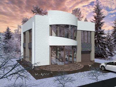 Дом 11.3 х 10.3 м площадью 267 м2 + проект