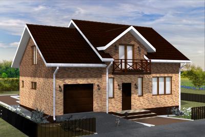 Дом с гаражем площадью 150 м2 + проект