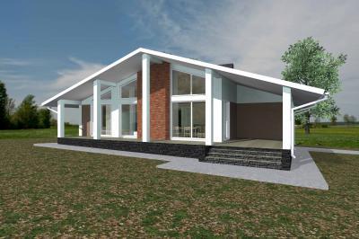 Дом 13,5 х 14,9 (с террасой) площадью 205 м2 + проект