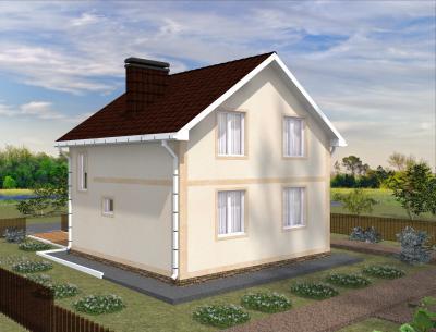 Дом 8 х 8 м площадью 128 м2 + проект