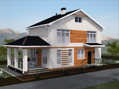 Дом 14.5 х 7 м площадью 228 м2 + проект