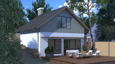 Дом с цокольным этажем площадью 104 м2 + проект