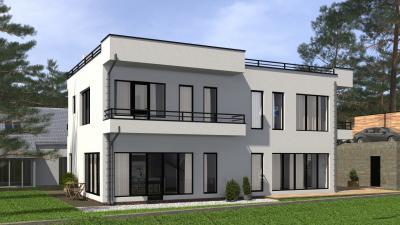Двухэтажный дом с цокольным этажом площадью 240 м2 + проект