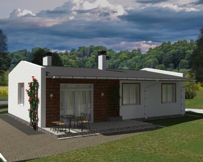 Дом 13.1 м х 9.4 м площадью 124 м2 + проект