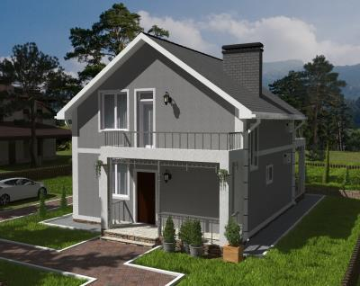 Дом 8 м х 12.4 м площадью 161 м2 + проект