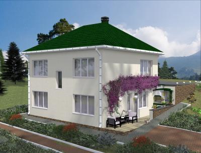 Дом 9 х 9.54 м площадью 197 м2 + проект
