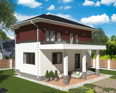 Дом 6.2 х 5.8 м площадью 72 м2 + проект