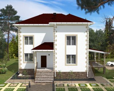 Дом 11.8 м х 10.3 м с цокольным этажом площадью 449 м2 + проект