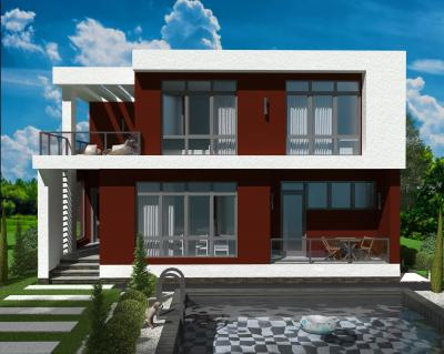 Дом 11,32*12 с цокольным этажем площадью 385 м2 + проект