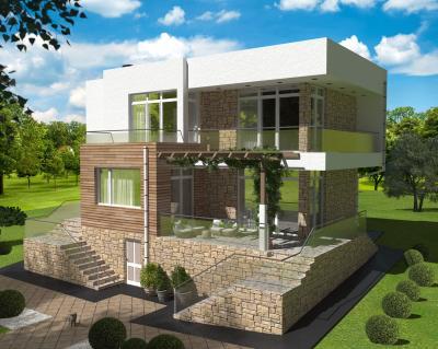 Дом 11,5 х 8,84 м площадью 246 м2 + проект